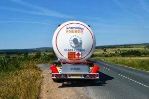 Burnsall Bridge trailer truck volvo